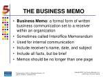 the business memo