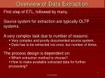 overview of data extraction