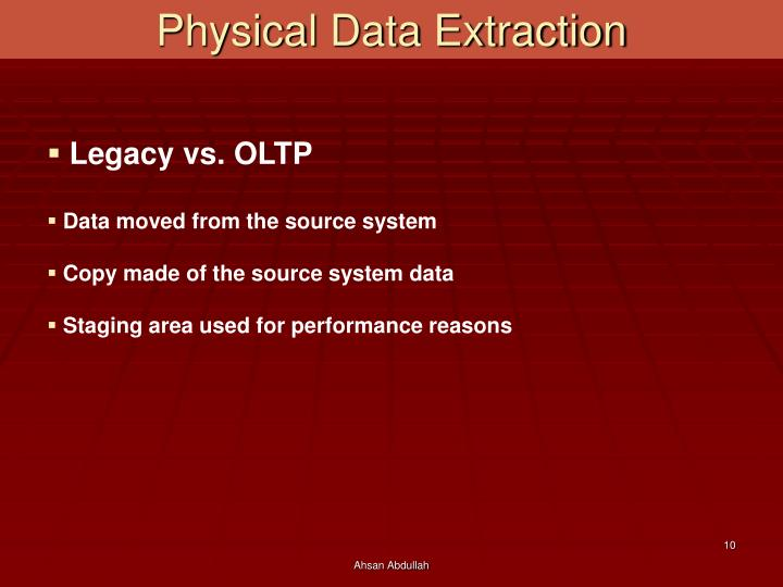 Physical Data Extraction