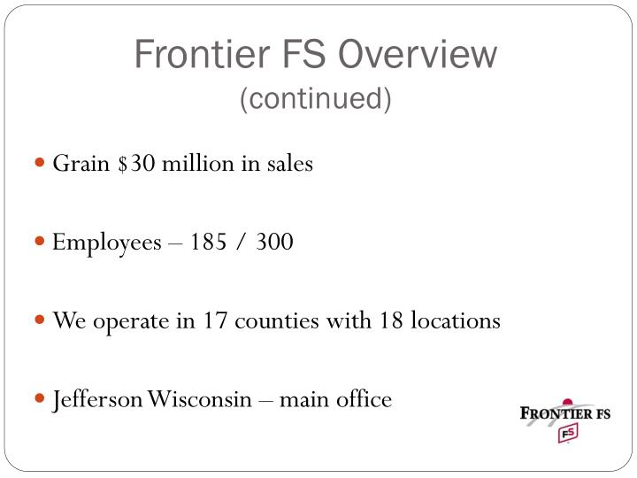 Frontier FS Overview