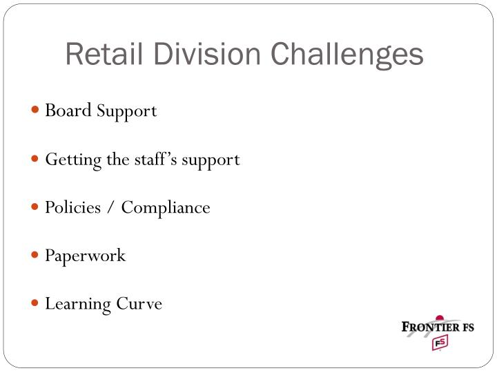 Retail Division Challenges