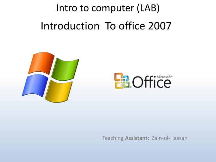 Intro to computer (LAB)
