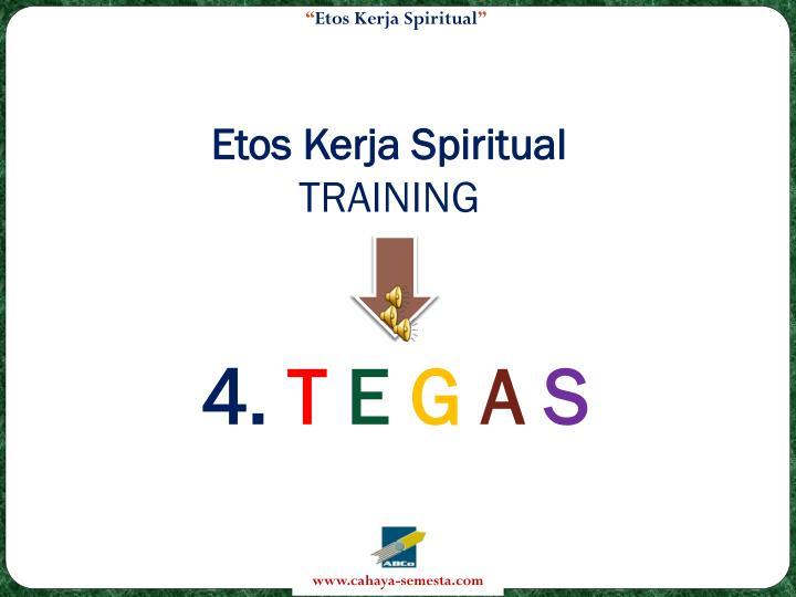 Etos Kerja Spiritual