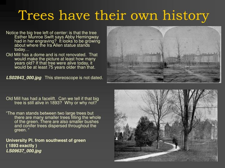 Trees have their own history