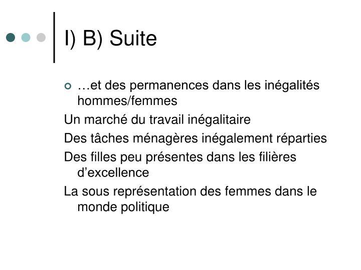 I) B) Suite