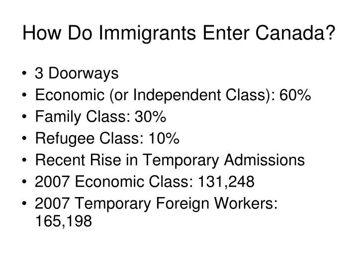 How Do Immigrants Enter Canada?
