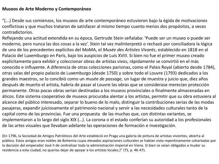 Museos de Arte Moderno y Contemporneo