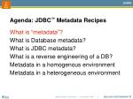 agenda jdbc metadata recipes1