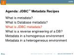 agenda jdbc metadata recipes3