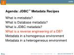 agenda jdbc metadata recipes4