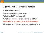 agenda jdbc metadata recipes5