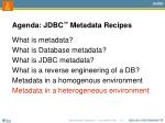 agenda jdbc metadata recipes6