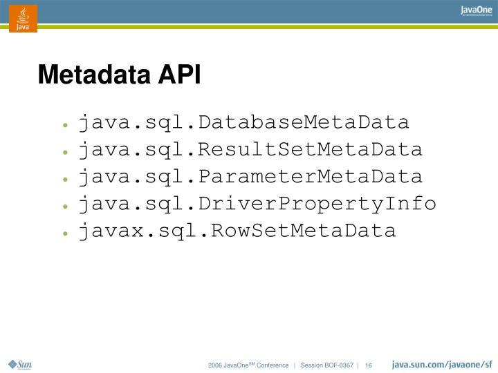 Metadata API