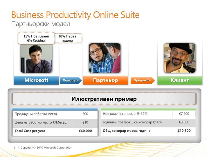 Business Productivity Online Suite