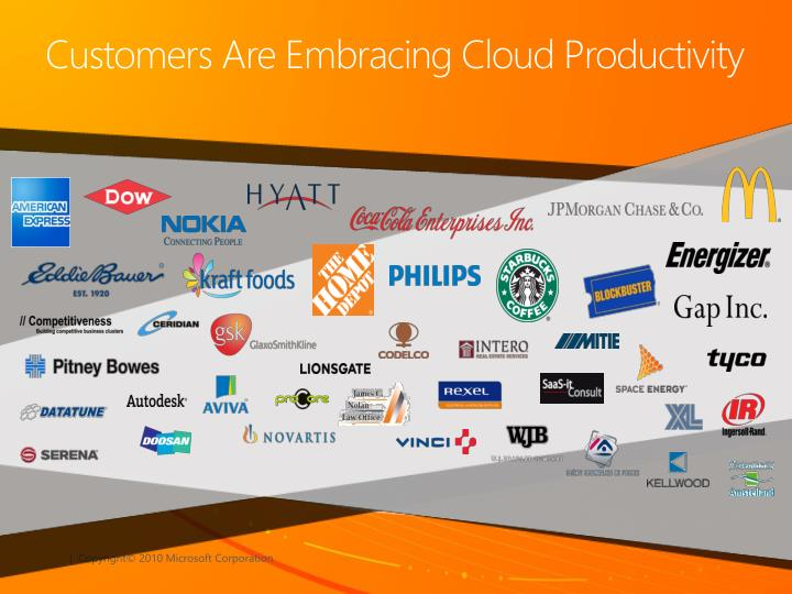 Customers Are Embracing Cloud Productivity