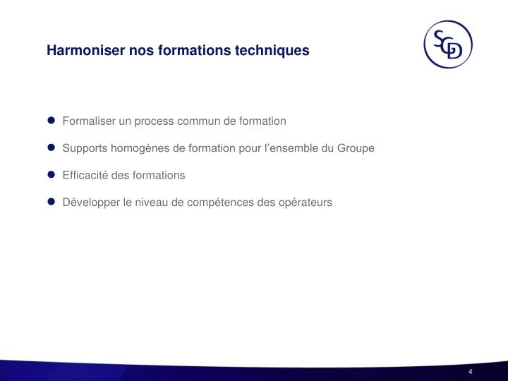 Harmoniser nos formations techniques