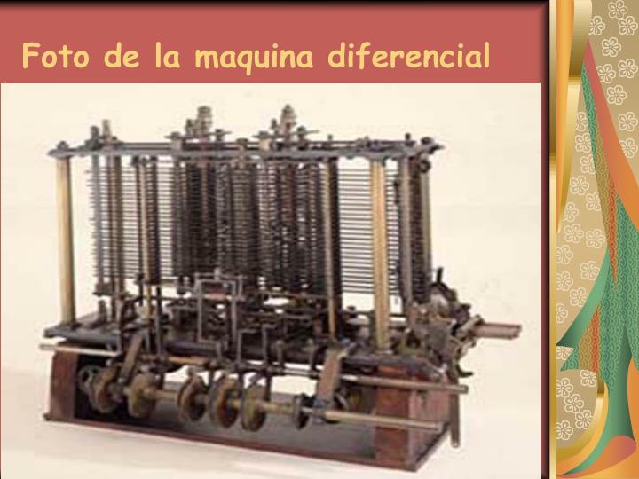 Foto de la maquina diferencial