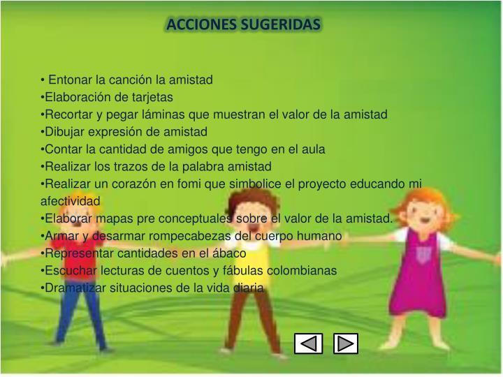 ACCIONES SUGERIDAS