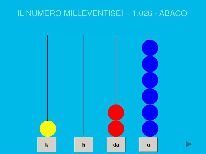 IL NUMERO MILLEVENTISEI – 1.026 - ABACO