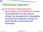workshop objective1