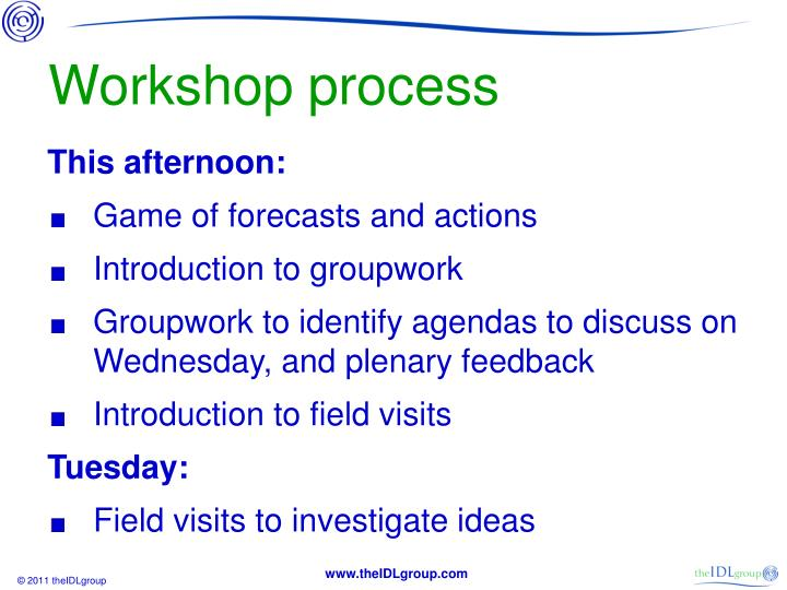 Workshop process