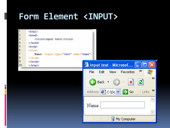 Form Element <INPUT>