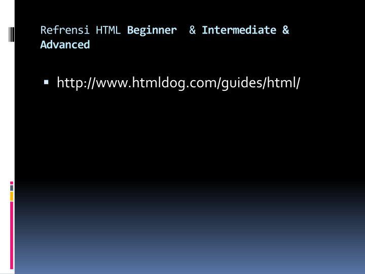 Refrensi HTML
