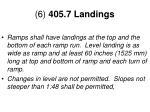 6 405 7 landings