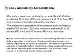 b 604 2 ambulatory accessible stall