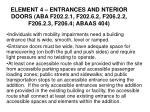 element 4 entrances and nterior doors aba f202 2 1 f202 6 2 f206 2 2 f206 2 3 f206 4 abaas 404