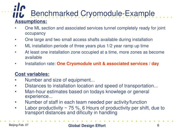 Benchmarked Cryomodule-Example
