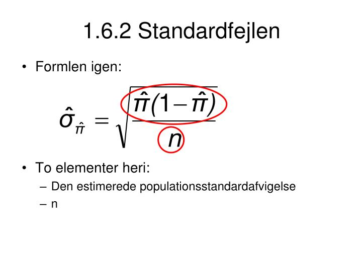 1.6.2 Standardfejlen