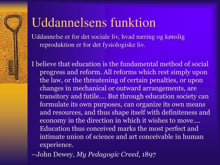 Uddannelsens funktion
