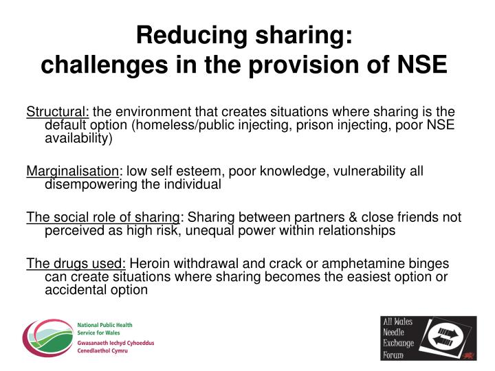 Reducing sharing: