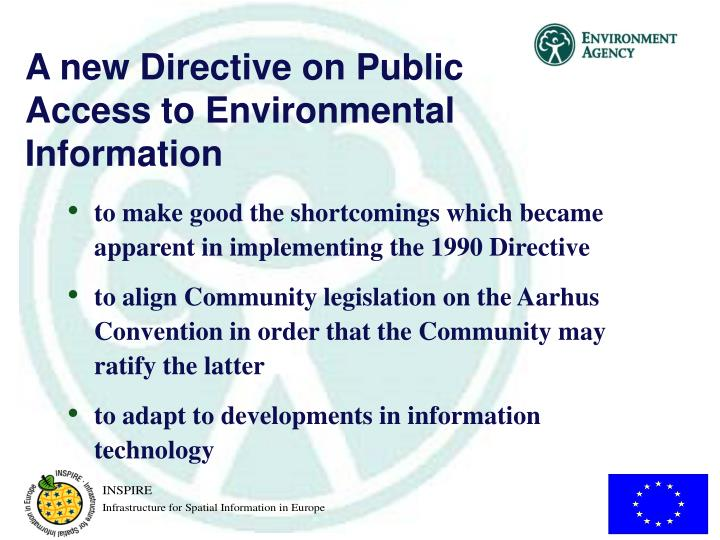A new Directive on Public Access to Environmental Information