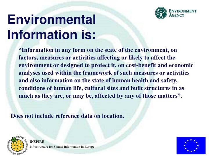Environmental Information is: