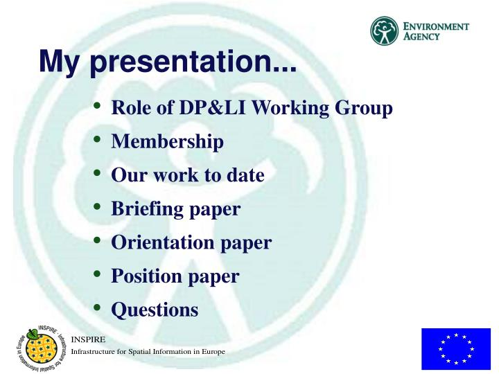 My presentation...