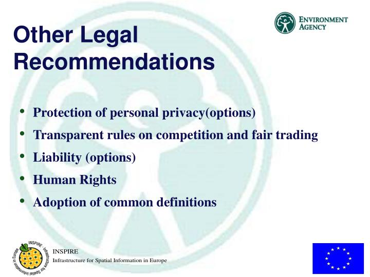 Other Legal Recommendations