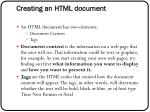creating an html document