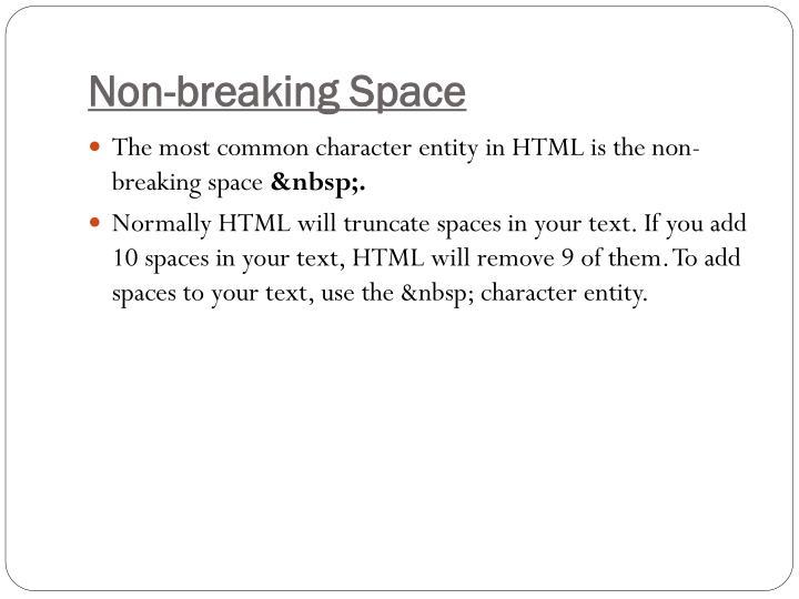Non-breaking Space