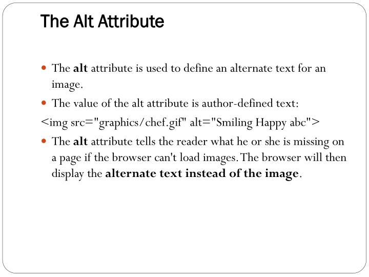 The Alt Attribute