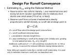 design for runoff conveyance1