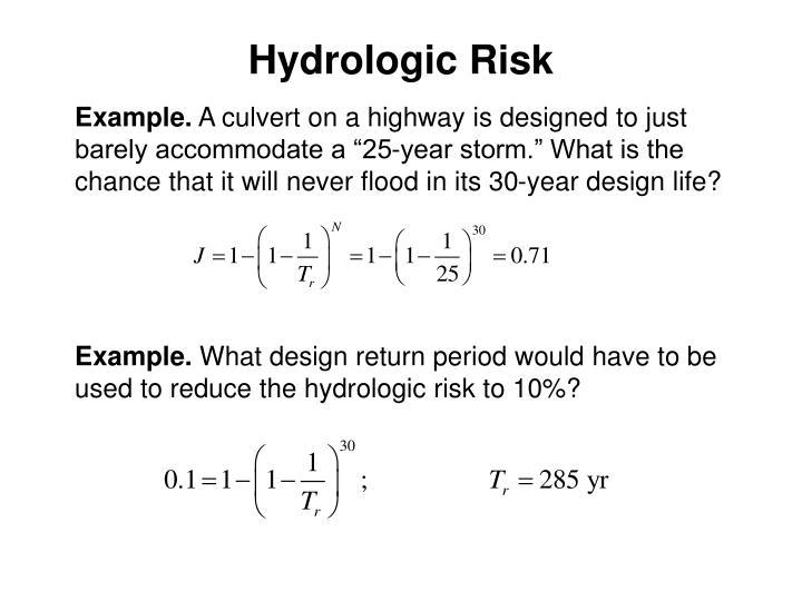 Hydrologic Risk