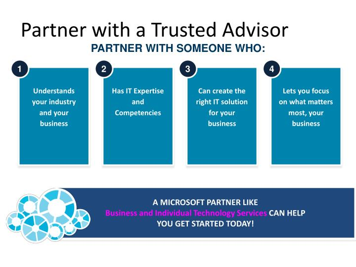 Partner with a Trusted Advisor