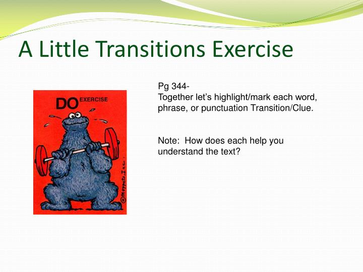 A Little Transitions Exercise