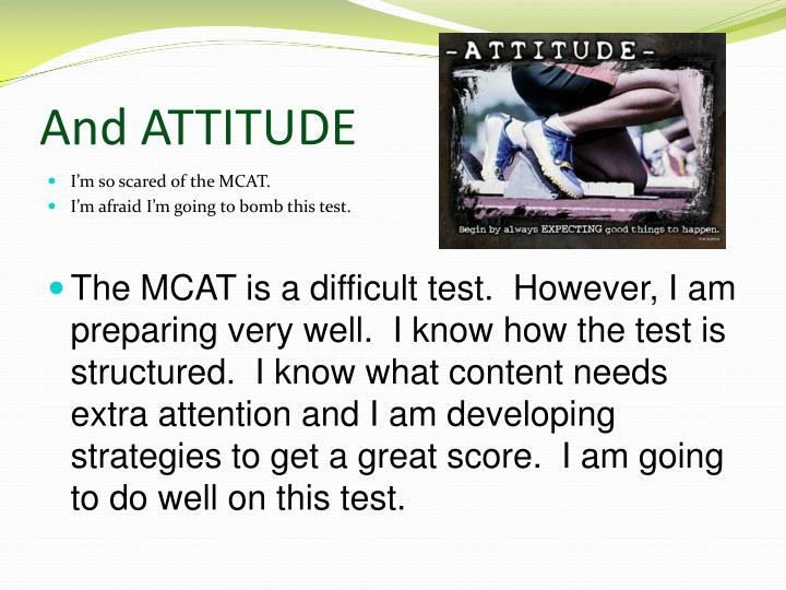 And ATTITUDE