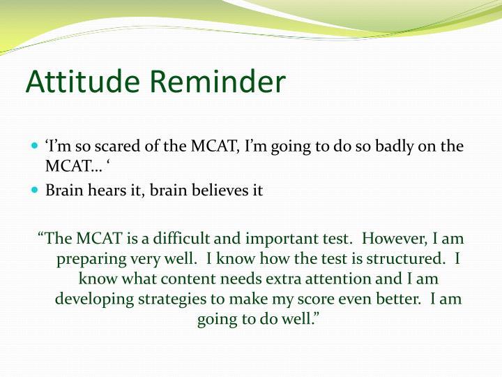 Attitude Reminder
