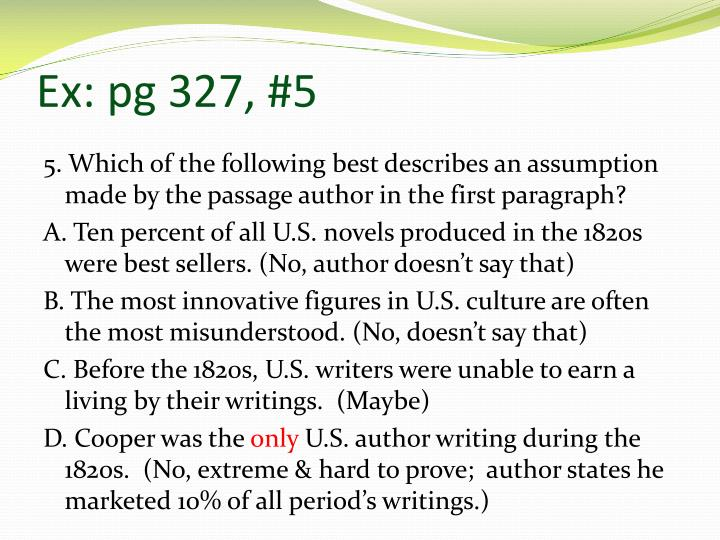 Ex: pg 327, #5