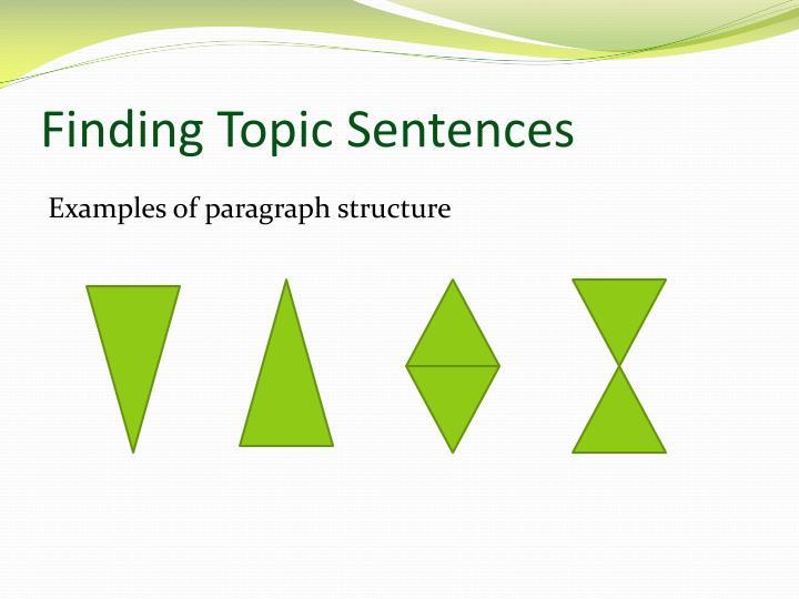 Finding Topic Sentences