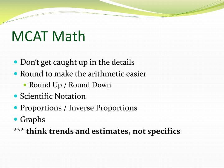 MCAT Math